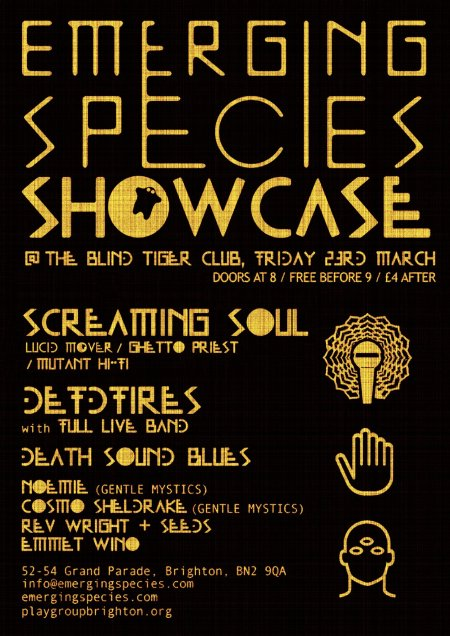 EMERGING SPECIES SHOWCASE - BRIGHTON, BLIND TIGER CLUB.
